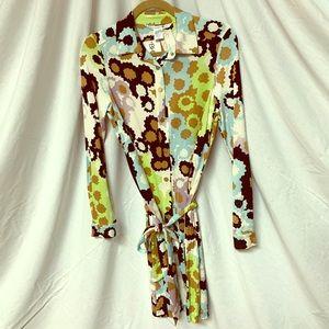 Diane Von Furstenberg NWT Retro Pattern Wrap Dress